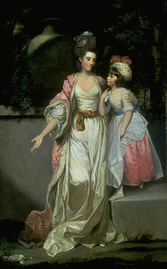 The painting that started it all...  (Joshua Reynolds, Mrs. Jelf Powis and her Daughter, 1777. SCBF Houston)