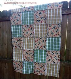 kitchen towel rag quilt - why couldn't I make a kitchen towel quilt smaller & make it into a kitchen rug? It would match my kitchen...