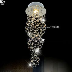 Modern crystal chandelier penthouse stair lamp door long living room dining lamp  100% quality guarantee #Affiliate