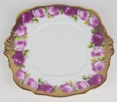 Cake Serving Plate Royal Albert Crown China Old English Rose Heavy Gilt England | eBay