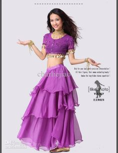 Wholesale Worldwide promotion china post belly dance dancing spiral skirt dresses costume wear g, Free shipping, $13.63-16.52/Piece | DHgate