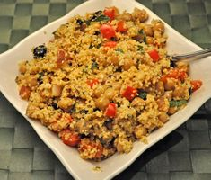 Moroccan Couscous Salad, serve still warm or chill for later. Easy summer side dish that would be great for a picnic