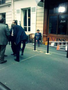 Gabriel Byrne filming in Paris