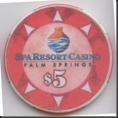 This chip is from the Spa Resort Casino in Palm Springs, CA.  The chip is also used by the nearby Agua Caliente Casino with the same ownership.
