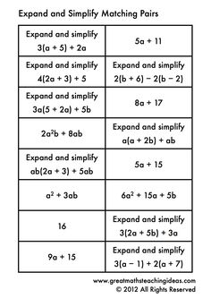 7th Grade Expand and Factor Linear Expressions Lessons | Leap into ...