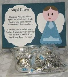 Angel Kisses Poem Treat Holder Stampin' Up! Christmas Poems, Christmas Candy, Diy Christmas Gifts, Christmas Projects, Christmas Holidays, Candy Crafts, Holiday Crafts, Craft Gifts, Diy Gifts