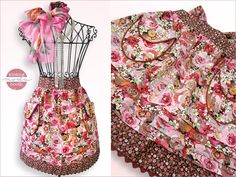 Kissing Booth Double Layer Half Apron with Pockets, Tucks & More (This is a FREE Pattern & Tutorial K. Sewing Hacks, Sewing Tutorials, Sewing Projects, Sewing Ideas, Sewing Lessons, Sewing Tips, Sewing Aprons, Sewing Clothes, Sewing Patterns Free