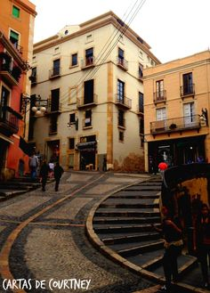Walking to the Old Town of Tarragona, Spain