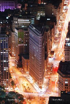 Flat Iron Building District, Manhattan, New York.
