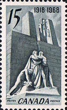Canada 1968 SG 629 Armistice Monument Vimy Fine Mint                    SG 629 Scott 486 Other British Commonwealth Stamps for Sale Here