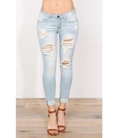 Leslie Distressed Boyfriend Jeans