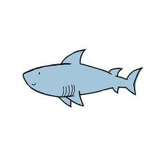 60 Trendy Drawing Pencil Easy Sketches Step By Step Shark Drawing Easy, Fish Cartoon Drawing, Ocean Drawing, Drawing Cartoon Characters, Cartoon Fish, Fish Drawings, Character Drawing, Cartoon Drawings, Cute Drawings