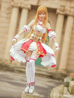 Yuuki Asuna cosplay from Sword Art Online - fancosplay c372f5b7d497