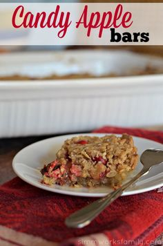 Candy Apple Bars wit
