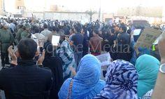 Las fuerzas de ocupación marroquíes intervienen violentamente contra manifestantes que repudiaban el asesinato del mártir Brahim Saika