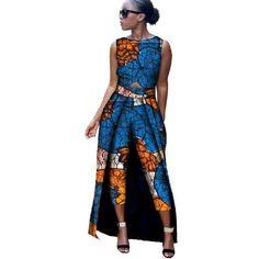 African Clothing Ankara dashiki Ankara dashiki Print Print Romper Jumpsuit for women Cotton Wax Plus Size Fitness African American Fashion, African Inspired Fashion, Africa Fashion, African Wear, African Attire, African Dress, African Jumpsuit, African Outfits, Ankara Jumpsuit