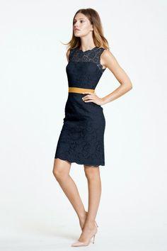 Watters dress with belt option