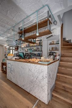 Halükar Architecture / Mimarlik have completed the interior of FiL Books, a photography / art book store and coffee shop, located in Istanbul, Turkey. Cafe Interior, Shop Interior Design, Cafe Design, Store Design, Interior Decorating, Book Design, Coffee Shop Bar, Coffee Store, Coffee Cafe