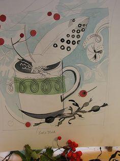 Preparatory drawing-Angie Lewin