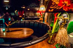 Wednesday, November 2015 After finishing up at Himitsu Lounge in Buckhead, I headed over to Decatur to see the newly opened S., tiki torches light th… Best Cocktail Bars, Cocktail Drinks, Fun Drinks, Cocktails, Tiki Lights, Bar Interior Design, How To Make Drinks, Tiki Torches, Cocktail