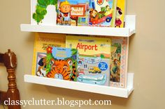 Definitely need about 20 of these shelves for all my kids books lol
