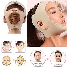BeNewYorker ~ Produits ~ Delicate Facial Thin Face Mask Slimming Bandage Skin Care Belt Shape And Lift Reduce Double Chin Face Mask Face Thining Band ~ Shopify Christmas Makeup Look, Halloween Makeup Looks, Belleza Diy, Tips Belleza, Facial Implant, Maquillage Halloween Simple, Reduce Double Chin, Colorful Eye Makeup, Face Skin Care