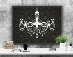 Chandelier Printable Art Print Chic Art Decor by ATArtDigital