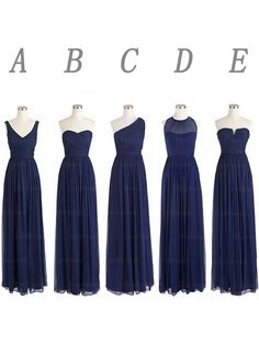 navy blue bridesmaid dresses, long bridesmaid dresses, chiffon bridesmaid dresses, mismatched bridesmaid dress, cheap bridesmaid dresses, custom bridesmaid dresses