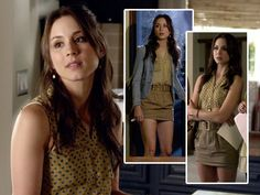 "Troian Bellisario as Spencer Hastings looks great in this preppy ensemble!  She wears a ""Gap"" blazer, a ""Lush at Nordstrom"" top, ""Guess"" skirt, and ""Cooperative at Nordstrom"" shoes.  Tune into PLL, Tuesdays at 8/7c on ABC Family for more adorable fashion!"