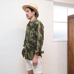 2016年4月7日【 Web Store 更新 】  ポルトガル軍70sリザードカモヘリンボーンフィールドシャツ / デッドストック [ http://www.aud-inc.com/product/1871 ]  #シャツ #高円寺 #カモ #デッドストック #軍モノ #deadstock #フィールドシャツ #カモフラージュ #ヘリンボーン #ポルトガル #ポルトガル軍 #70s #メンズ #mens #東京 #style #fashion #NowAvailable #webstore