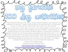 free 100 day activity pack