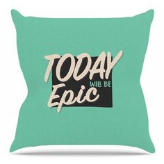 East Urban Home Epic Day by Juan Paolo Throw Pillow Size: