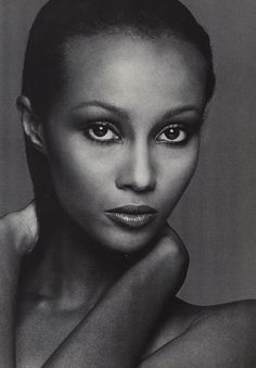 Iman...the daughter of a doctor & Diplomat, she was discovered at Nairobi University in 1975, becoming one of the most celebrated models of all time & successful cosmetic pioneer