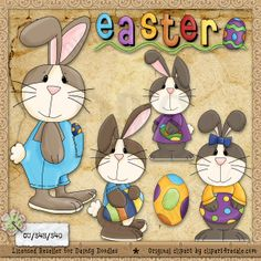 Easter Bunny 1 - Whimsy Primsy Clip Art Download : Digi Web Studio, Clip Art, Printable Crafts & Digital Scrapbooking!