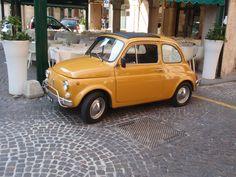 Yellow Fiat 500 - on my wishlist