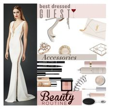 """Vineyard Wedding"" by lifeisworthlivingagain ❤ liked on Polyvore featuring Chanel, Yves Saint Laurent, Clinique, LSA International, Bloomingdale's, Kate Spade, Terre Mère, Bare Escentuals, Bobbi Brown Cosmetics and Valentino"