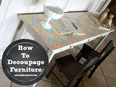 How to Decoupage Furniture with Mod Podge {Tutorial} - Refunk My Junk
