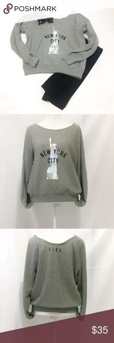 Victoria's Secret | New York City Sweatshirt | Med Victoria's Secret | Gray New York City Sweatshirt | Size: Medium | Great Condition | True to Size | No Wear or Damage | Pet/Smoke Free Home | Cotton Blend | See Photos for Measurements PINK Victoria's Secret Tops Sweatshirts & Hoodies