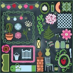 Moonlight Garden Party SVG Collection