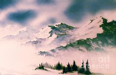 Landscape With Mountains Painting by Teresa Ascone - Landscape With Mountains Fine Art Prints and Posters for Sale