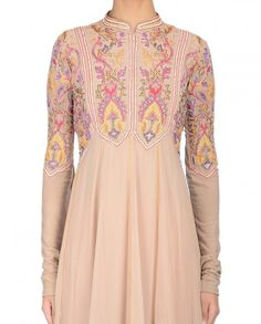 Blush Palazzo Suit with Embroidery - KHEM By Khushboo & Prem - Designers