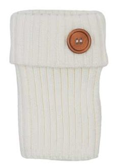 CC Boot Cuffs with Button in Ivory LEG-01-IVORY