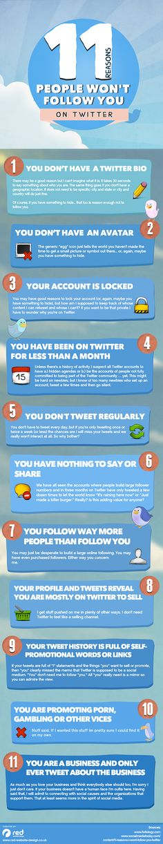 11 reasons why people don't follow you on Twitter