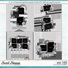 Cindy's Layered Templates - Set 165 by Cindy Schneider