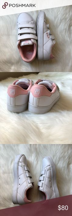 fila strawberry milk RARE sneakers FILA deluxe court strawberry milk sneakers. ridiculously cute. was exclusive to asia and not released anywhere else! super rare. size US 6.   barely worn, has a small toe box crease and slight wear to the bottom of the soles. cutest pastel kawaii pink color. Fila Shoes Athletic Shoes