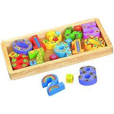 Drewniany zestaw edukacyjny dla dzieci - PUDEŁKO Z CYFRAMI