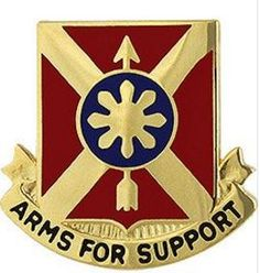 163rd Field Artillery Regiment Unit Crest (Arms For Support)