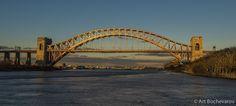 Hell Gate bridge at sunset, Astoria, Queens, New York. | by Art  Bochevarov