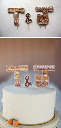 Rustic Letters Cake Topper 2