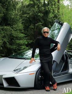 """My Lamborghini Reventon reminds me of an incredibly sleek sculpture . . ."" - Ralph Lauren. Celebrity cars."